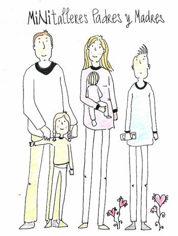 Minitalleres dibujo simple de Mariluz coloreado